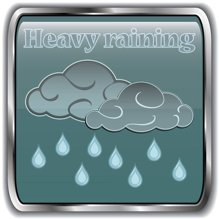 raining: Night weather icon with text havy raining.