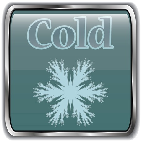cold weather: Night weather icon with text cold.