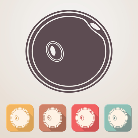 fertile: Egg cell flat icon set in color boxes with shadow.