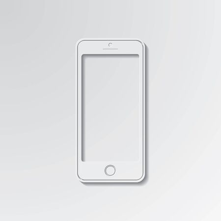 smartdigital: New smartphone cut out icon on paper background.