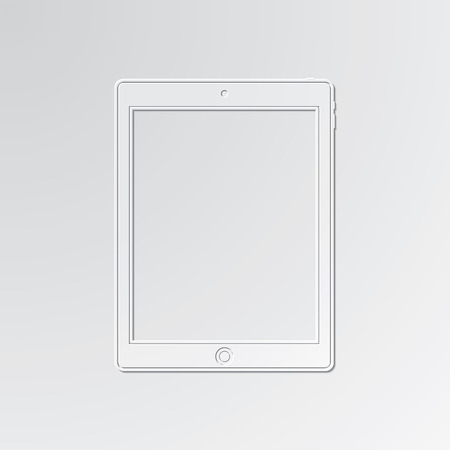 smartdigital: Tablet cut out icon on paper background.