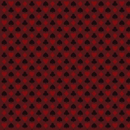 playing, poker, blackjack cards symbol seamless psttern red.
