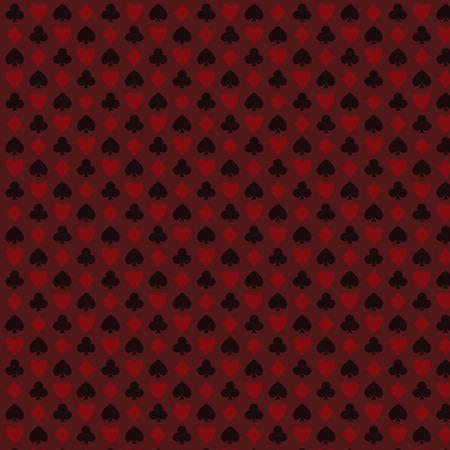 spelen, poker, blackjack kaarten symbool naadloze psttern rood.