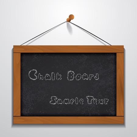 wood frame: Chalkboard wood frame sample text hanging on wall.