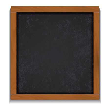 Chalkboard wood frame isolated on white background. Vector