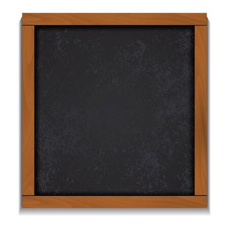 wood frame: Chalkboard wood frame isolated on white background. Illustration