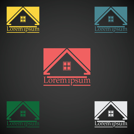 rooftop: Real Estate vector  design template color set. rooftop abstract concept icon. Realty construction architecture symbol.