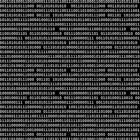 computer code: Binary computer code seamless pattern vector background illustration black.