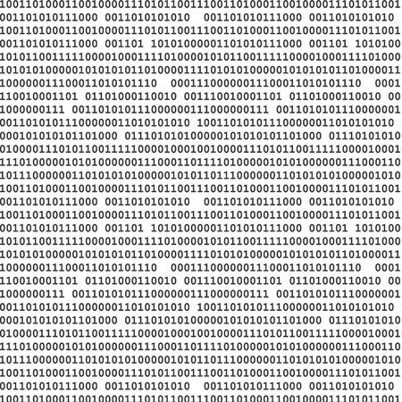 Binaire computer code naadloze patroon vector achtergrond illustratie zwart. Stock Illustratie
