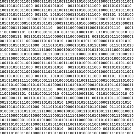 Binary computer code seamless pattern vector background illustration black.