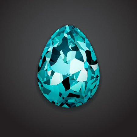 Stylish creative crystal easter egg logo sample text. Vector