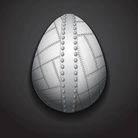 silver plated: Stylish creative metal easter egg sample text.