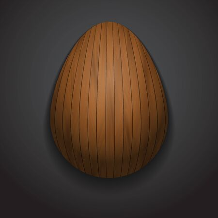 varnished: Stylish creative wooden easter egg sample text.