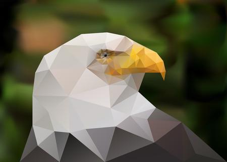 Geometric low poly illustration. Polygonal poster.