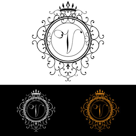 boutique hotel: Carta V. plantilla Logo Lujo florece caligr�ficas elegantes l�neas ornamento. R�tulo de establecimiento, la identidad de restaurante, Realeza, Boutique, Hotel, her�ldico, joyer�a, moda, ilustraci�n vectorial.