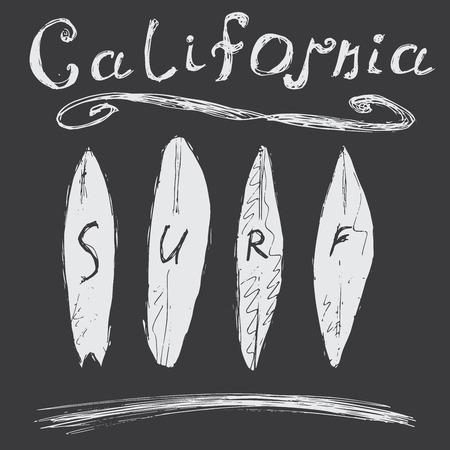 malibu: T-shirt Printing design, typography graphics Summer vector illustration Badge Applique Label California surf sign.