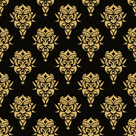 rich black wallpaper: Royal wallpaper seamless floral pattern, Luxury background. Illustration