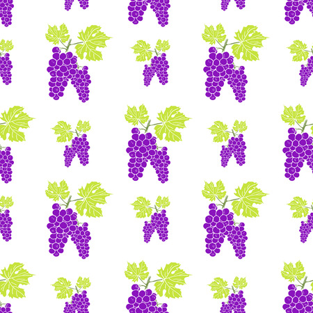 red grape: Fruit background Seamless pattern with hand drawn skech grape vector illustration.