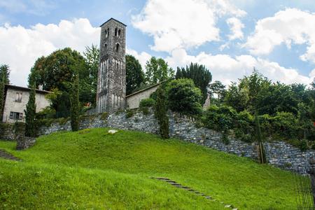 arhitecture: Bellagio city on Lake Como, Italy. Lombardy region. Italian, european arhitecture Editorial
