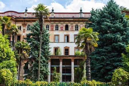 Bellagio city on Lake Como, Italy. Lombardy region. Italian cityscape, european arhitecture