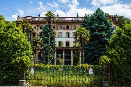 arhitecture: Bellagio city on Lake Como, Italy. Lombardy region. Italian cityscape, european arhitecture