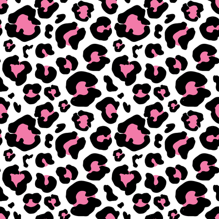 Leopard skin hand drawn. animal print drawing. Seamless Pattern. Vector Illustration