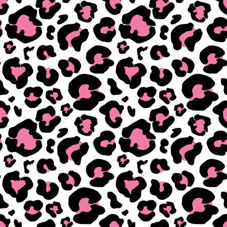 getrokken luipaardvel de hand. animal print tekening. Naadloos Patroon. vector Illustration