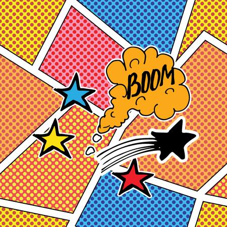 Comic book speech bubble, cartoon sound effect. Hand drawn pop art style sign vector illustration Illustration