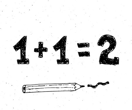 pensil: Back to School formula with pensil, vector illustration