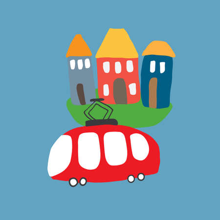 Cute Cars Cartoon Doodles. Transportation t-shirt print design. Vector Illustration.