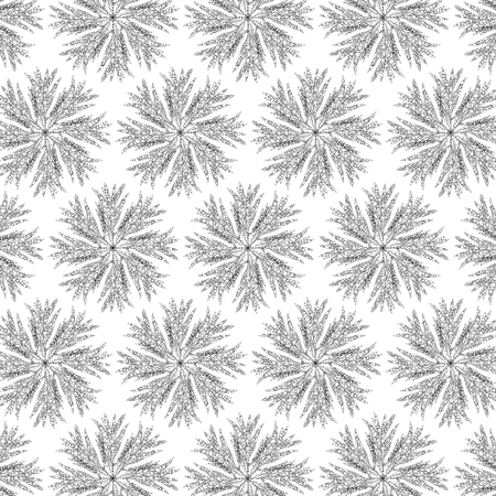 Round leaf pattern from the leafs transformed by rectangular shapes.  イラスト・ベクター素材