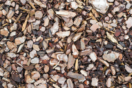 Wood chips isolate Stock Photo