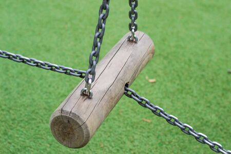 Chains lock on the log