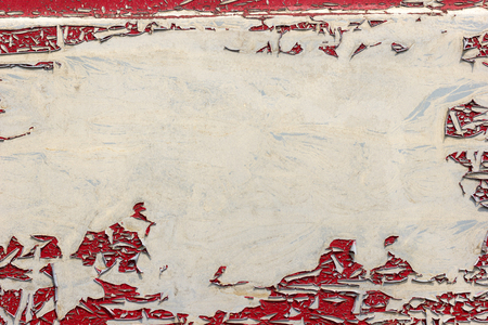 Texture of the old red color car peeling off. Suitable for articles background about vintage or classic car. Imagens