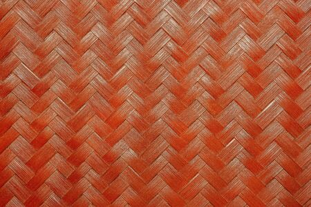 Texture of red bamboo wicker. Used to make various appliances In the household in the past of Thailand. Imagens