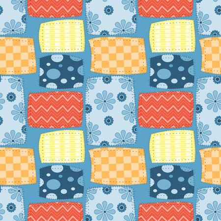 Seamless pattern of fabric patch. Abstract background. vector illustration flat design.