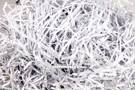 Paper strips from a shredder photo