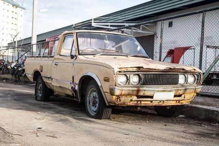 Old cars for scrap  photo