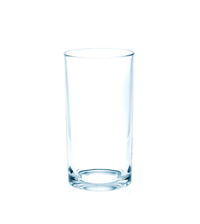 Empty glass on white  photo