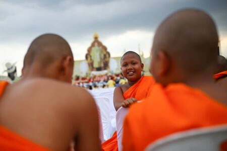 ordination: Bangkok Thailand December 6 2557 Ordination Ceremony to celebrate the King of Thailand. Editorial