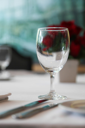 dinning room: Glass of water on the dinning room.
