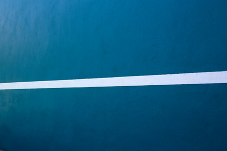 white lines: The blue walls with white lines.