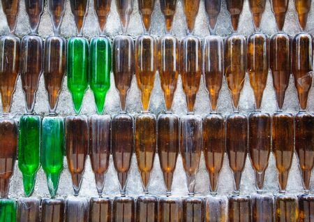 laotian: Glass bottle temple Khunhan Thailand Asian temples buildings and culture Stock Photo