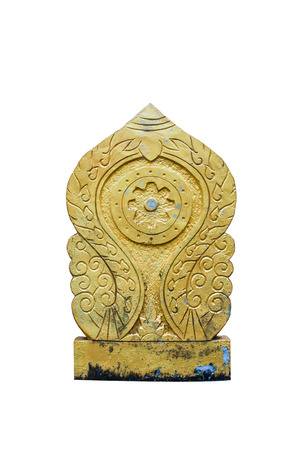 shakti: Old Buddhism Symbol sculpture on White Stock Photo