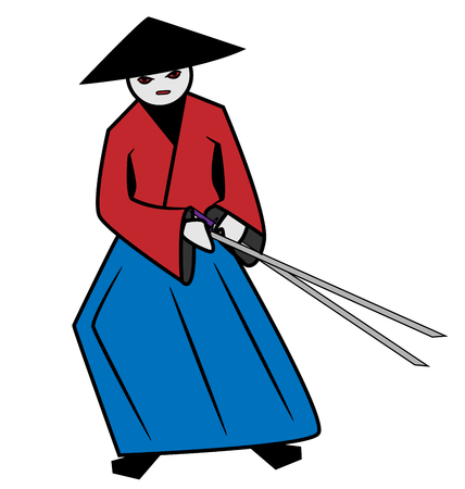 assassin: angry samurai in red