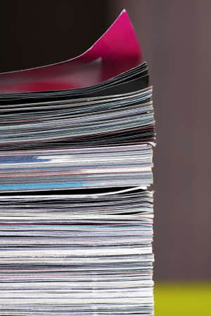 stack of magazines - macro Stock Photo - 8432841