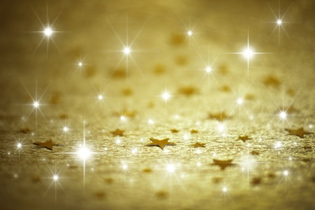 Golden background with stars