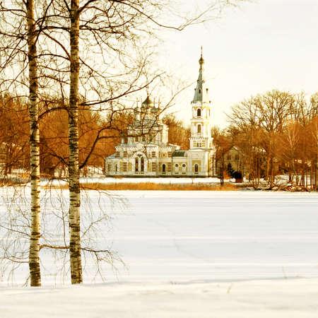 Russian Orthodox church in winter