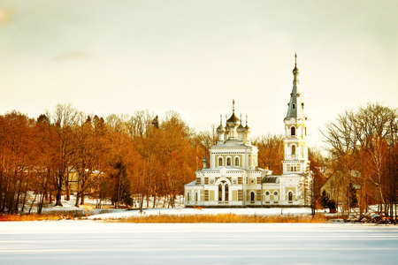 Russian Orthodox church in winter