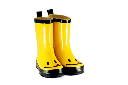 Yellow children s boots